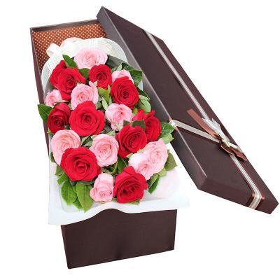 心中的唯一-20支精品混色玫瑰