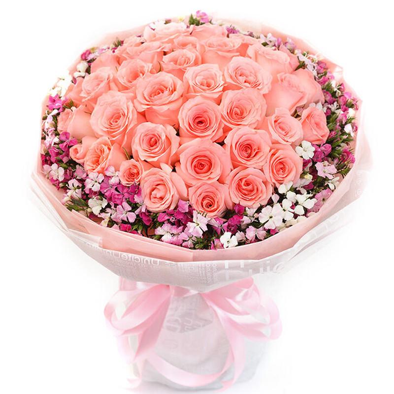 粉佳人-33支精品粉玫瑰