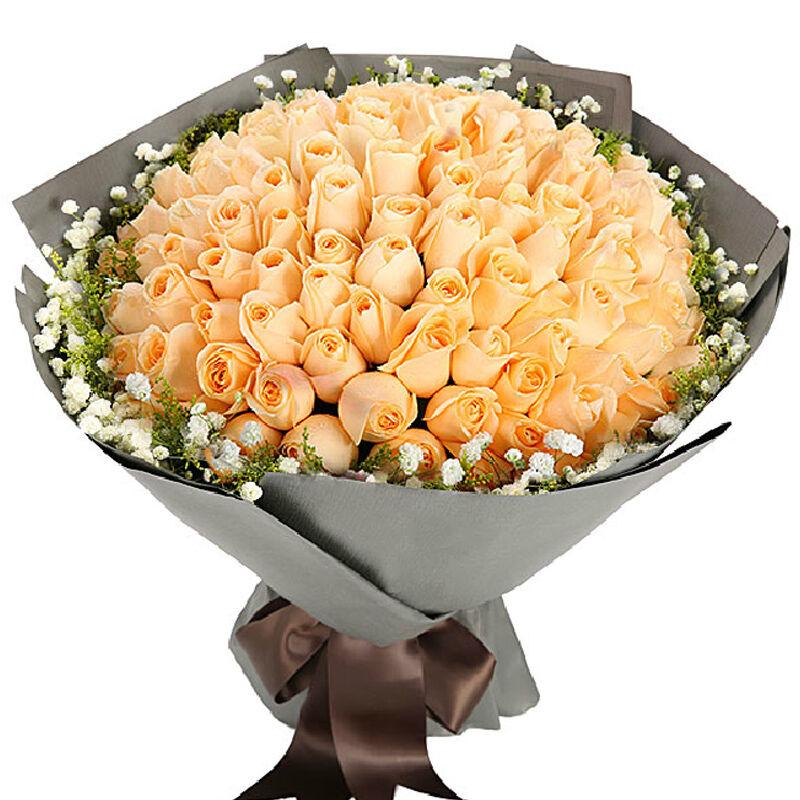 情定伊甸园-99支精品香槟玫瑰