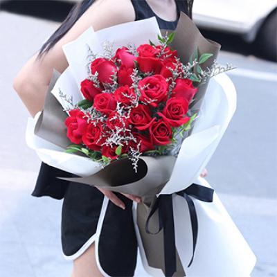 不变的心-19支精品红玫瑰