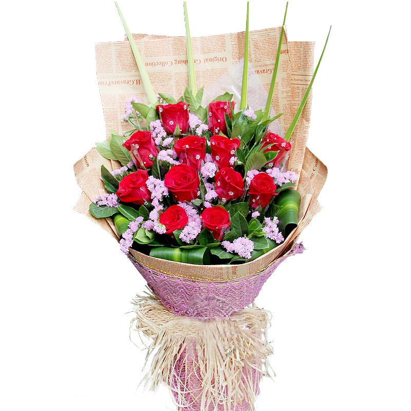纯纯的天真-12支精品红玫瑰