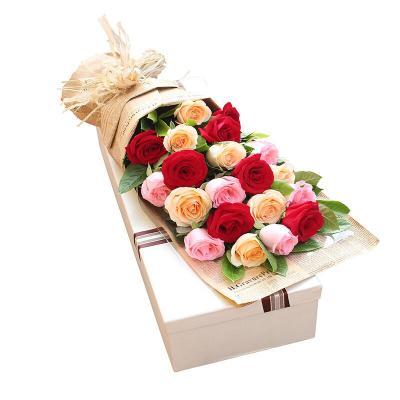 在水一方-19支精品混色玫瑰