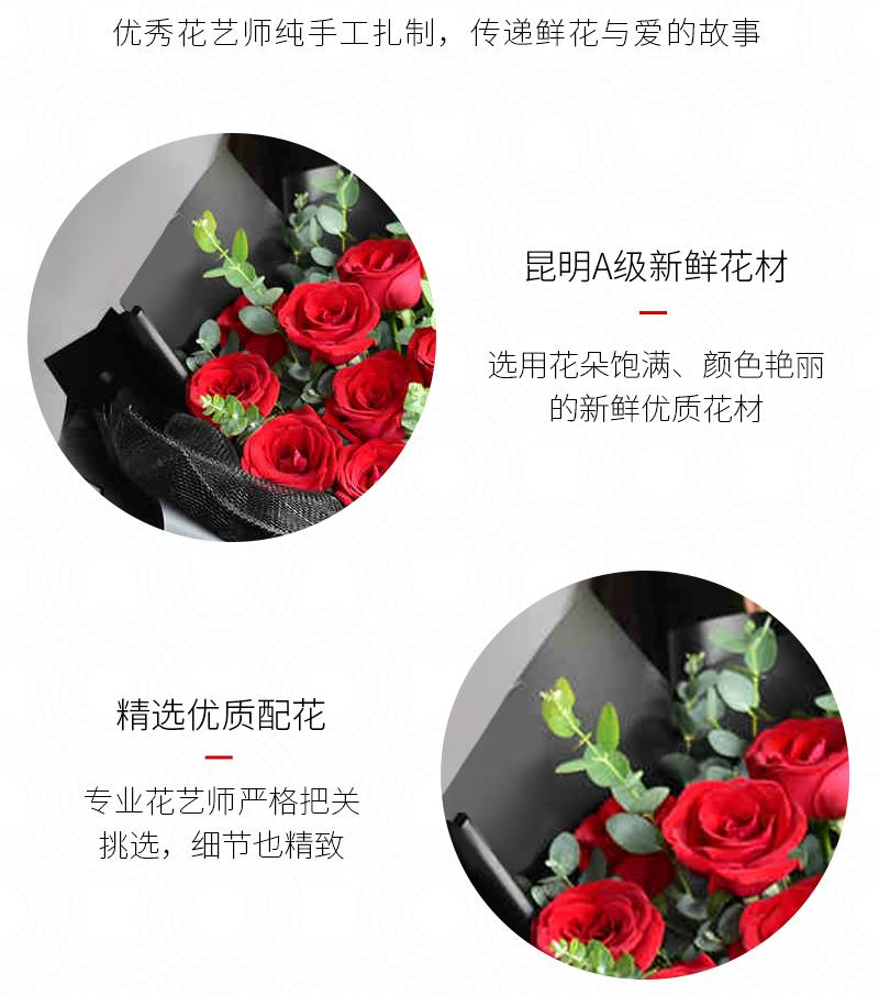情人节送几朵玫瑰